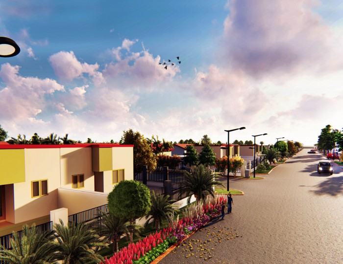 Serviced Plot with a free fence and gate. Take possession with just 25% Down.